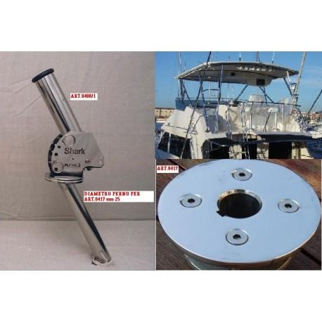 PORTACANNA GIREVOLE MOD.SHARK DIAM.25 mm
